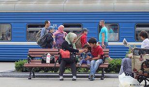 Migranci na dworcu w Brześciu.