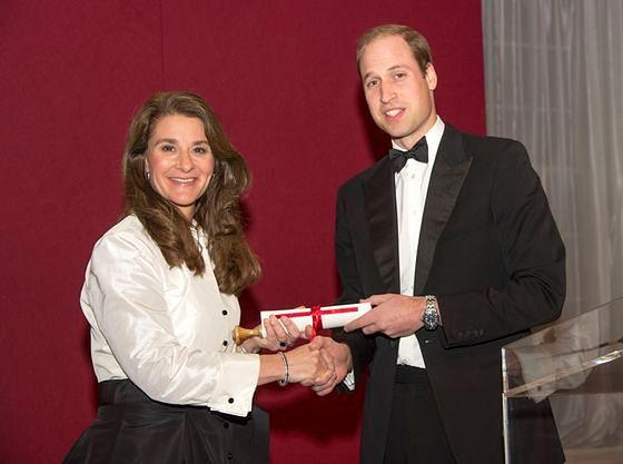 Melinda Gates, książę William