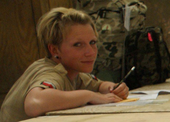 Pani Ewa podczas misji w Afganistanie.