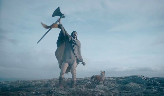 Rycerz Gawen w drodze do Zielonego Rycerza.