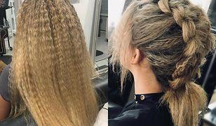 Karbowane włosy znów są na topie - zobacz stylizacje
