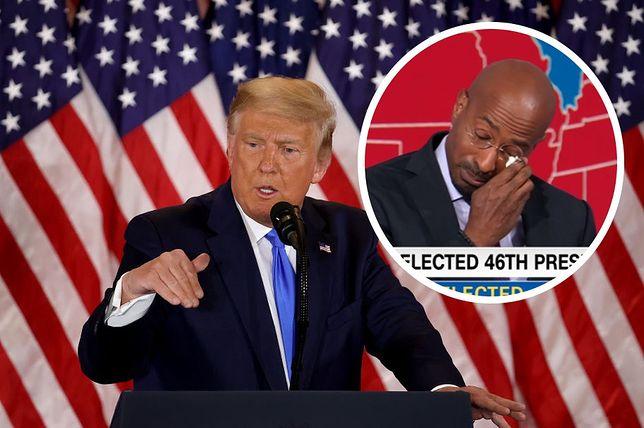 Van Jones popłakał się na wizji, gdy ogłoszono przegraną Trumpa
