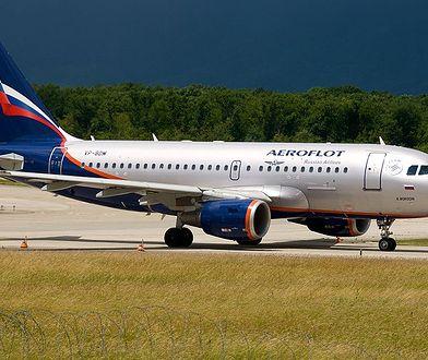 Samolot należący do rosyjskich linii Aeroflot