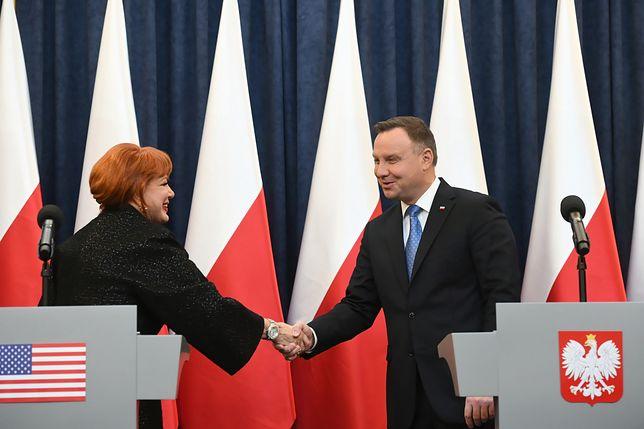 Wizy do USA. Prezydent Andrzej Duda i Georgette Mosbacher przekazali najnowsze ustalenia