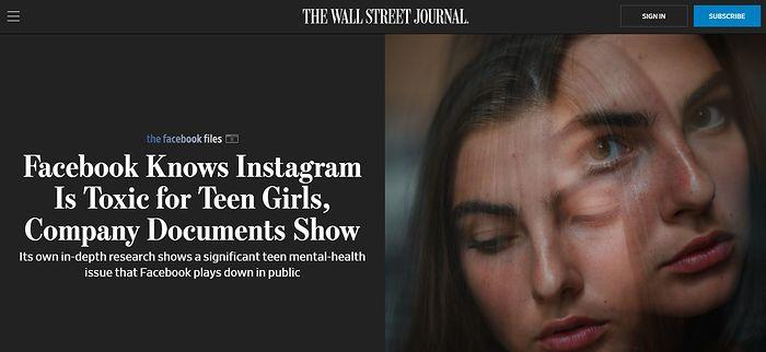 Instagram ma szkodliwy wpływ na młodych ludzi