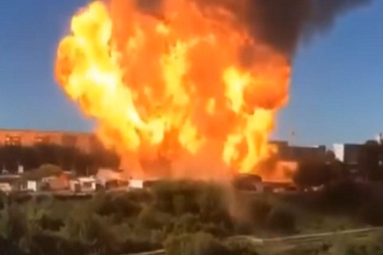 Wielki wybuch na stacji benzynowej w Rosji. Dziesiątki rannych