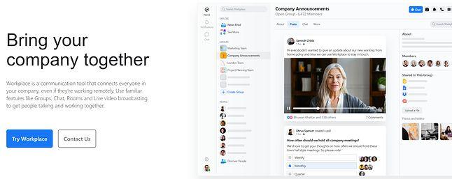 Po ostatniej prezentacji Facebooka można nabrać wątpliwości, czy faktycznie Workplace zbliży do siebie pracowników, fot. Facebook