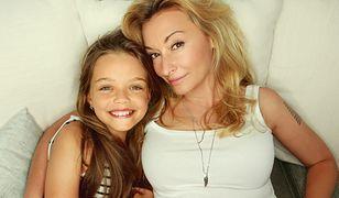 Martyna Wojciechowska razem z dziesięcioletnią córką Marysią.