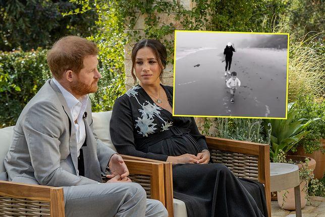 Prywatne nagranie Harry'ego i Meghan pokazano podczas wywiadu dla Oprah Winfrey