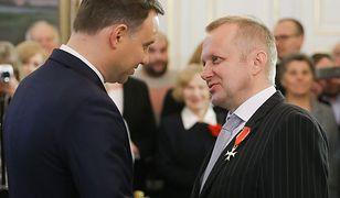 Od lewej: prezydent Andrzej Duda, prof. Mieczysław Ryba