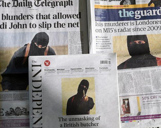 Brytyjskie gazety o tożsamości Johna Dżihadysty, luty 2015 r.