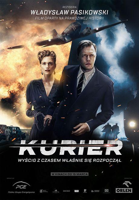 """Philippe Tłokiński i Julie Engelbrecht na oficjalnym plakacie """"Kuriera"""". Film w kinach od 15 marca"""