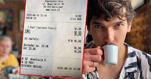 Napiłem się najdroższej kawy w Warszawie. Kosmiczna cena, a kawy tyle co nic