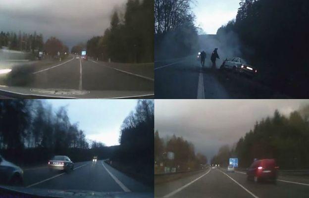 Dramatyczny finał pościgu czeskiej policji za złodziejem z Polski [WIDEO]
