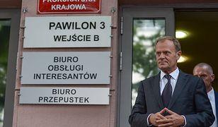 Donald Tusk po przesłuchaniu w Prokuraturze Krajowej.