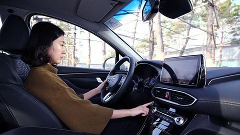 Hyundai Santa Fe – oto samochód z czytnikiem linii papilarnych