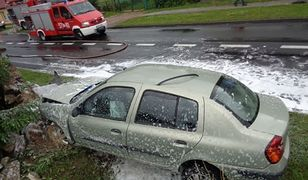 Wypadek w Lubnie