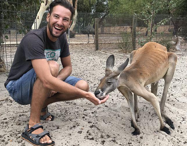 Szymon podczas pobytu w Australii
