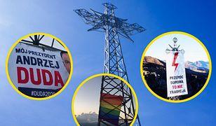 Tatry. Banery na Giewoncie. Prokuratura o transparentach Andrzeja Dudy, LGBT i Strajku Kobiet