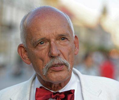 Janusz Korwin-Mikke bez komputera