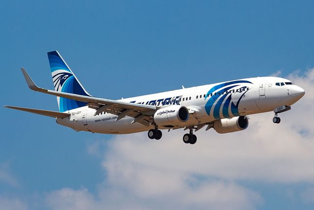 Samolot należący do linii EgyptAir