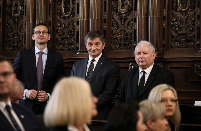Mateusz Morawiecki, Marek Kuchciński i Jarosław Kaczyński