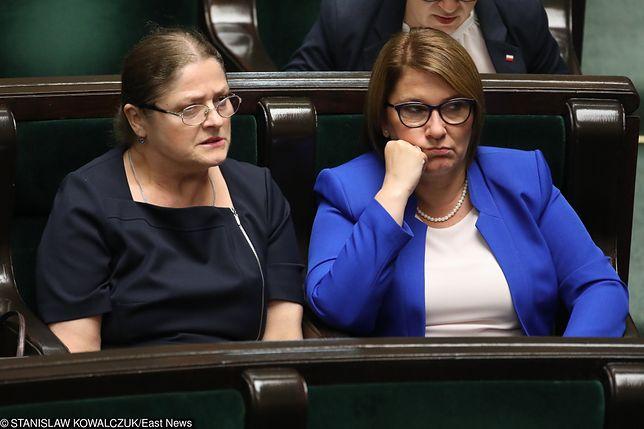 Krystyna Pawłowicz i Beata Mazurek