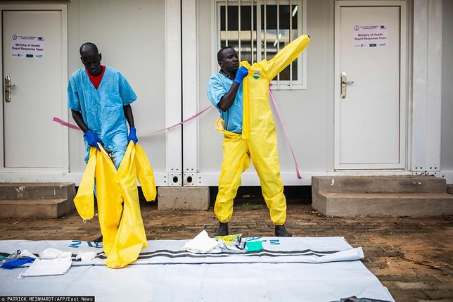 Pracownicy South Sudan's Health Ministry.