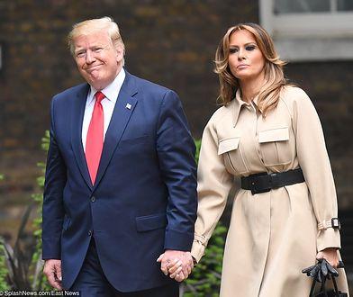 Melania Trump postawiła na stonowane kolory