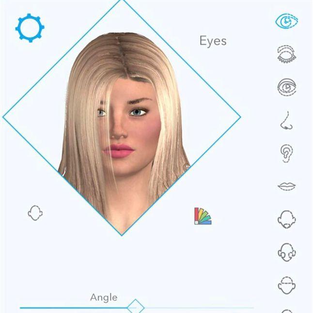 Harmony app. Źródło: Realbotix