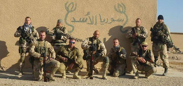 Członkowie Korpusu Słowiańskiego w Syrii, zdjęcie prawdopodobnie z 2013 r.