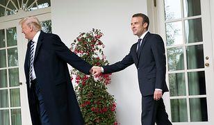 Donald Trump i Emmanuel Macron.