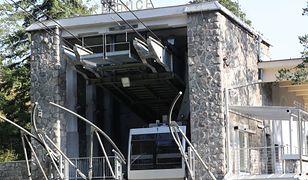 Tatry. Po burzy kolejka na Kasprowy Wierch była nieczynna przez kilka dni
