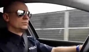 Policjant śpiewająco przypomina pod jaki numer należy dzwonić. Nagranie podbija sieć