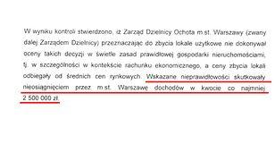 Ratusz: władze Ochoty tylko w 2014 roku doprowadziły do strat wynoszących co najmniej 2,5 mln zł.