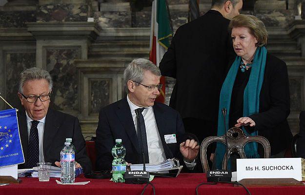 Pierwsza wiceprzewodnicząca Komisji Weneckiej Hanna Suchocka podczas obrad w Scuola Grande di San Giovanni Evangelista