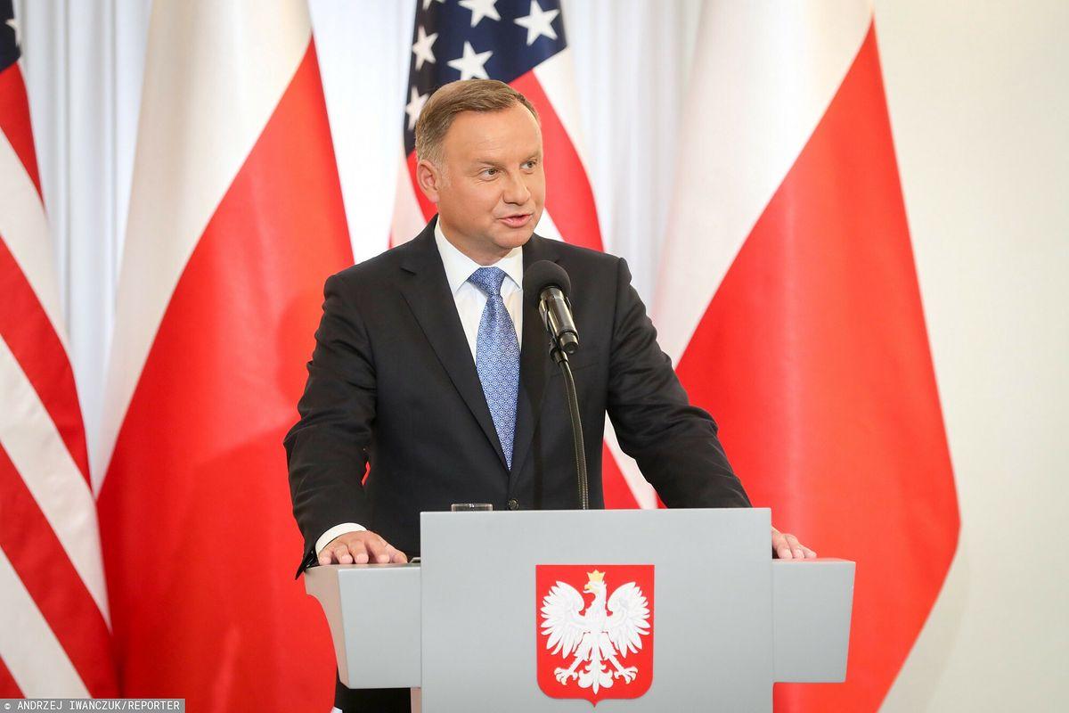 Prezydent Andrzej Duda podczas wizyty sekretarza stanu USA Mike'a Pompeo (zdj.arch.)