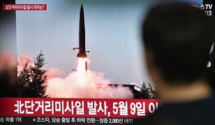 Test rakiety prezentowano w północnokoreańskiej telewizji publicznej