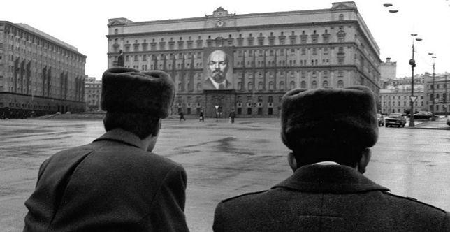 Siedziba KGB przy Placu Łubiańskim, data wykonania zdjęcia nieustalona.