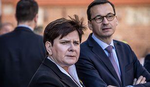 Wicepremier Beata Szydło i szef rządu Mateusz Morawiecki.