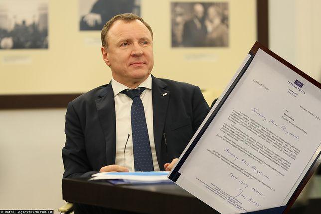 Jacek Kurski, prezes TVP, napisał list do prezydenta Andrzeja Dudy