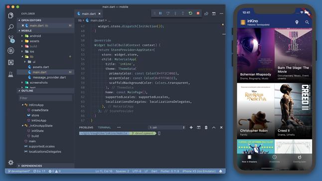 Środowisko programistyczne Flutter, źródło: Blog Google Developers.