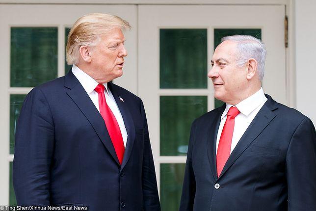 Od lewej: Donald Trump (prezydent USA) i Benjamin Netanjahu (premier Izraela)