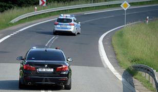 Wypadek na S8. Utknęła kolumna SOP z prezydentem Andrzejem Dudą