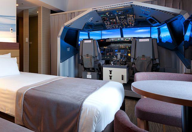 Nocleg w pokoju z Boeingiem 737-800