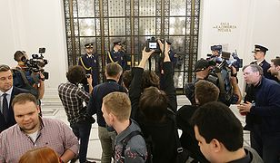 Straż Marszałkowska: nie było polecenia blokowania dostępu posłów do Sali Kolumnowej