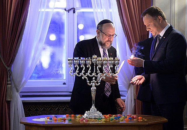 Prezydent zapalił chanukową świecę w Pałacu Prezydenckim