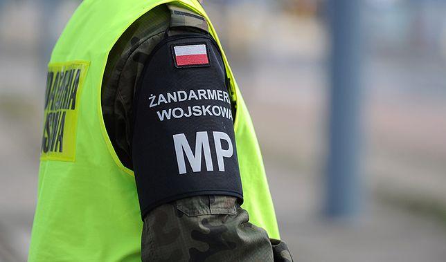 Okoliczności wypadku wyjaśniają mundurowi z Żandarmerii Wojskowej
