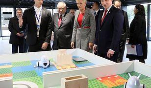 Prezydent Andrzej Duda i Agata Kornhauser-Duda na wrześniowej prezentacji zapowiadającej Polską Wystawę Gospodarczą