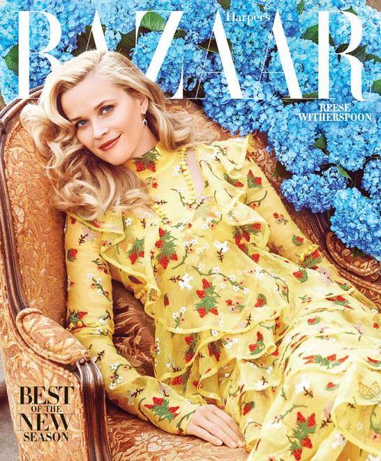 """Reese Witherspoon na okładce amerykańskiego """"Harper's Bazaar"""""""